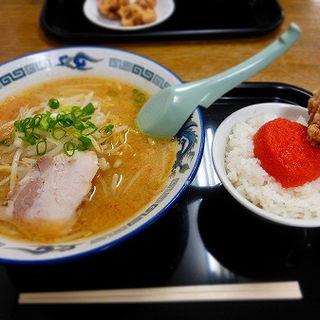 味噌ラーメンと明太子ご飯のセット(鈴木食堂 )
