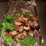 ツブ貝と椎茸焼き