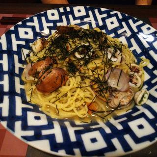 アサリとイカのパスタ海苔風味(鎌倉パスタ 都岡店 )