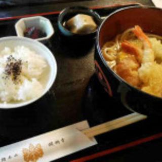 天ぷらうどんセット(胡麻豆腐付き)(阿闍梨寮 寿庵 )