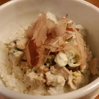 チャーマヨ丼(雨は、やさしく)