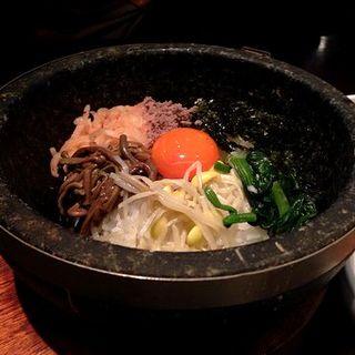 石焼きビビンバ定食(韓国旬彩料理 妻家房 JR博多シティ店)