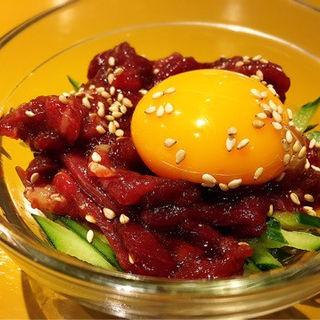 赤身桜ユッケ(韓食 (HANSHIKU))