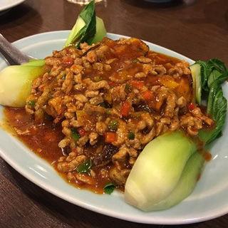 茄子の豚挽肉ソースがけ(順香 (シュンシャン))