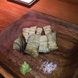 大川産の天然うなぎの白焼き(食堂えぶりお )