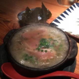 鴨肉とタケノコのみぞれ鍋仕立て(食堂えぶりお )