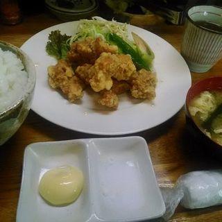 唐揚げ定食(ご飯大盛り)(飲み処 食べ処 すえひろ)
