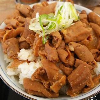 ミニホルモン丼(餃子の餃天 )
