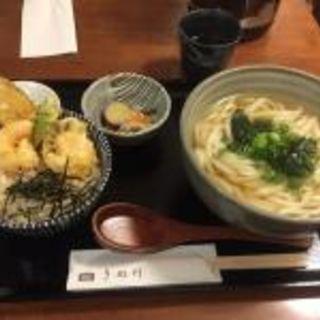 ミニ天丼定食(饂飩とお酒 からほり きぬ川)