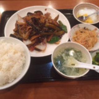 茄子の味噌炒め定食