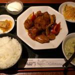 酢豚黒酢風味定食