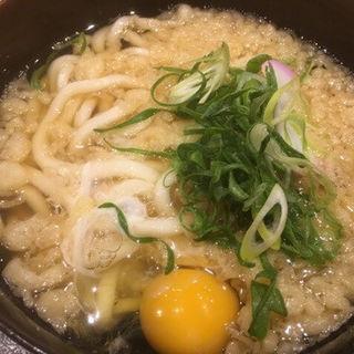 月見うどん(駅そば・うどん 浪速そば )