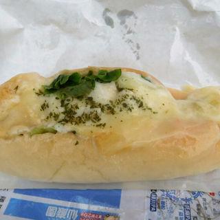 マカロニとチーズのグラタンドッグ(高虎ドッグ)