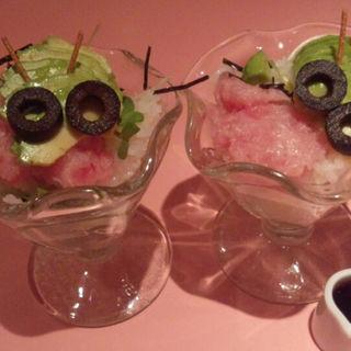 マグロとアボカドご飯~イモムシ風(魔法の国のアリス )