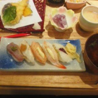 炙り寿司天ぷらランチ(魚屋の台所 三代目ふらり寿司 )