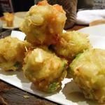海老とアボカドの天ぷら