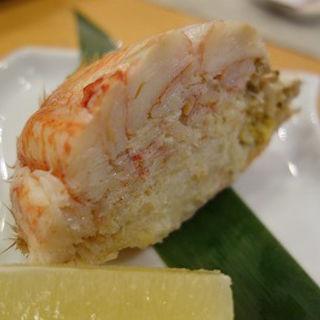 蟹の甲羅詰半身