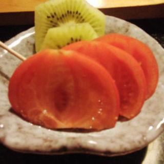 フルーツトマトとキーウイー