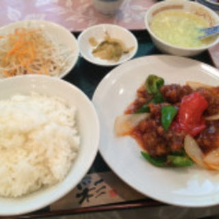 酢豚セット(鴻華園 (コウカエン))