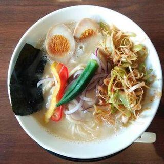 辛ねぎ鶏白湯そば(玉子トッピング)