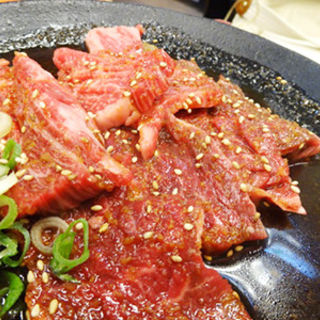 ロース・ハラミ焼肉定食(鶴一 本店 (つるいち))