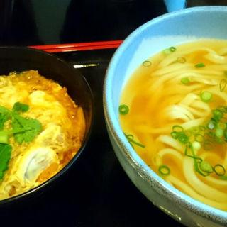 ミニ玉子丼+うどん大盛り(麺や ほり野)