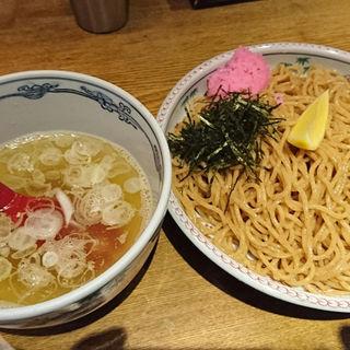 全粒粉麺の桜おろしつけ麺+麺大盛り