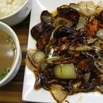 茄子味噌炒め定食(麺や 栄龍 )