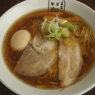 ラーメン 細麺 味玉トッピング(自家製麺 麺屋 翔)