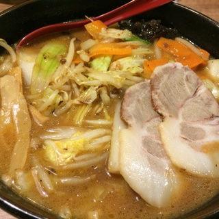 野菜たっぷりラーメンみそ味(麺屋 開高 ル・トロワ店)