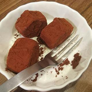 生チョコアイス(麺屋あかまつ )