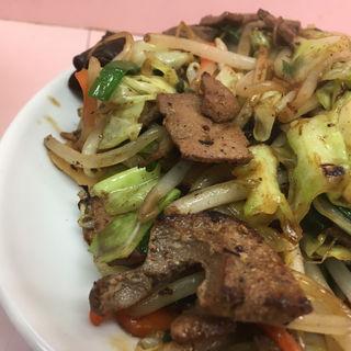レバニラ野菜炒め(中華そば ターキー )