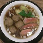 鴨ラーメン 1.5玉+ 鴨団子増し 1個(麺屋さくら )