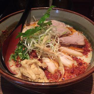 辛鶏炊いたん塩そば(龍旗信RIZE 大阪なんば店 (リュウキシンライズ))