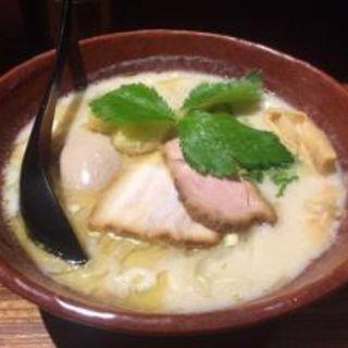 鶏炊いたん塩そば(龍旗信RIZE 大阪なんば店 (リュウキシンライズ))