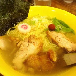 鶏叉焼塩ラーメン(龍王 (リュウオウ))