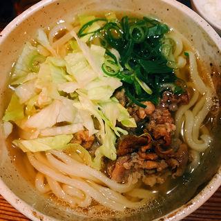 レタス肉うどん(うどん屋 米ちゃん)