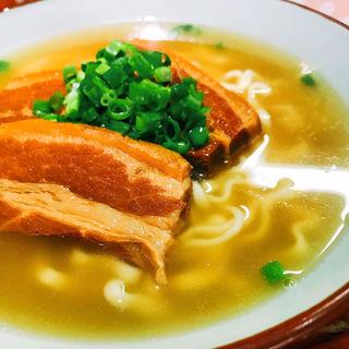三枚肉そば 豚骨かつお出汁Ver(龍屋 (タツヤ))