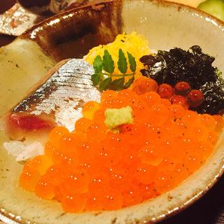 鯵いくらご飯(料理 澤)