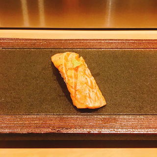 炙りサーモンの握り(日本橋 (にほんばし))