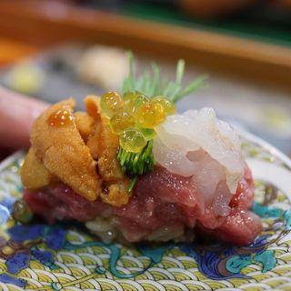 トロイカウニ黄金イクラ(寿司栄 )