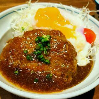 もつ入りハンバーグ丼(もつ鍋一慶 JRJP博多ビル店 )