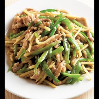 豚肉とピーマンの細切り炒め(餃子フジイヤ)