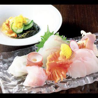 お造り、ほやの酢の物(日本橋 三冨魯久汁八 )