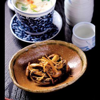 茶碗蒸し、肝の煮付け(赤間屋 )