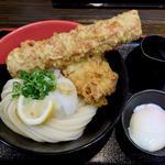 竹鶏玉ぶっかけうどん冷(極楽うどん Ah-麺)
