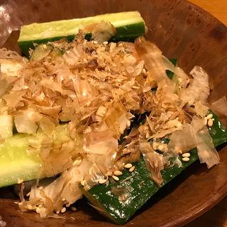 長芋と胡瓜の梅塩和え(山内農場 南海なんば南口駅前店 )