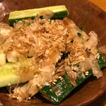 長芋と胡瓜の梅塩和え