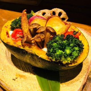 かぼちゃとお野菜畑の豆乳クリームグラタン(Vegetable Dining 畑舎 (はたけや))