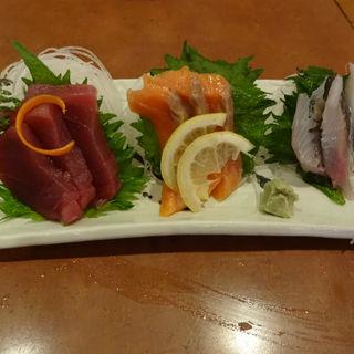 冬の刺身三点盛り(いっすんぼうし 横浜東口店 )